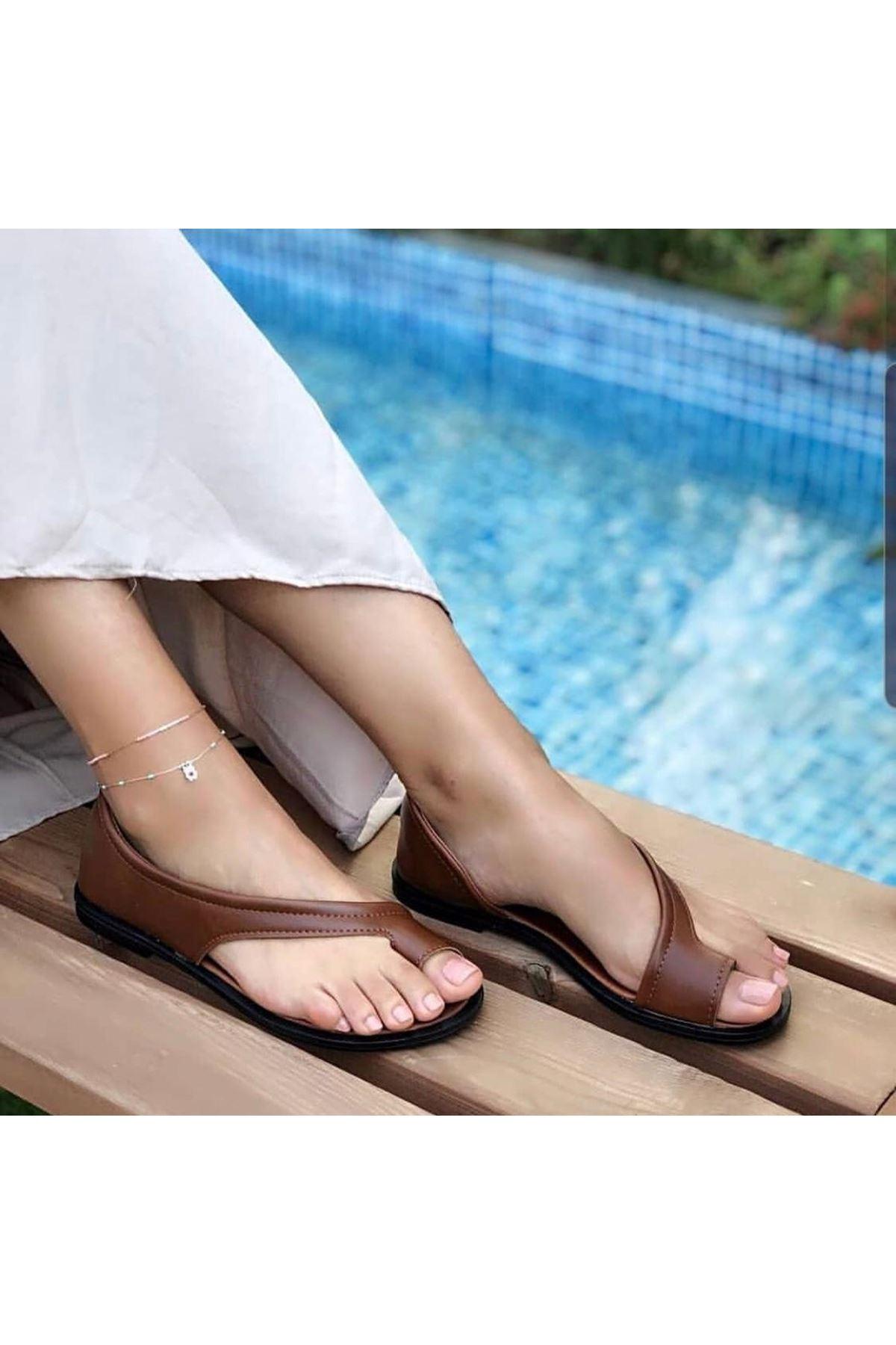 Moda Yazlık Ayakkabı - KAHVERENGİ