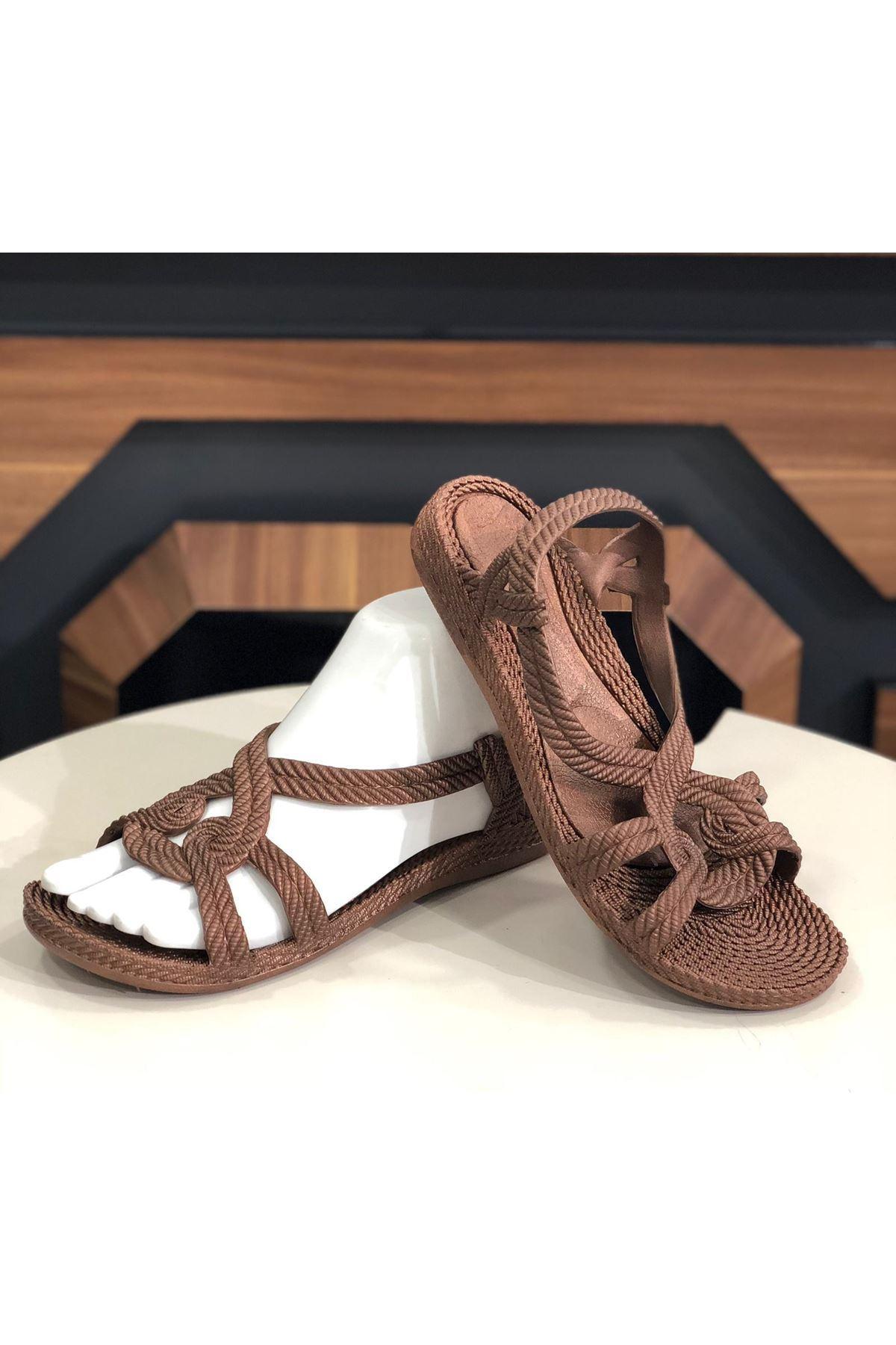 Sandalet Ayakkabı - Kahverengi