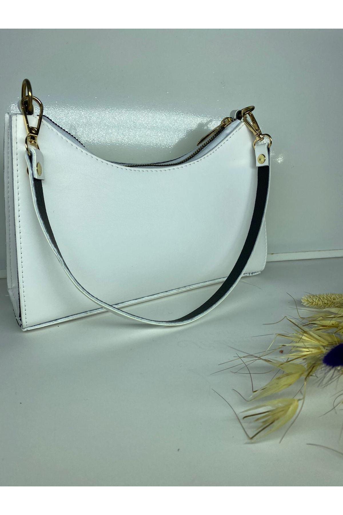 Zara Model Çanta - Beyaz