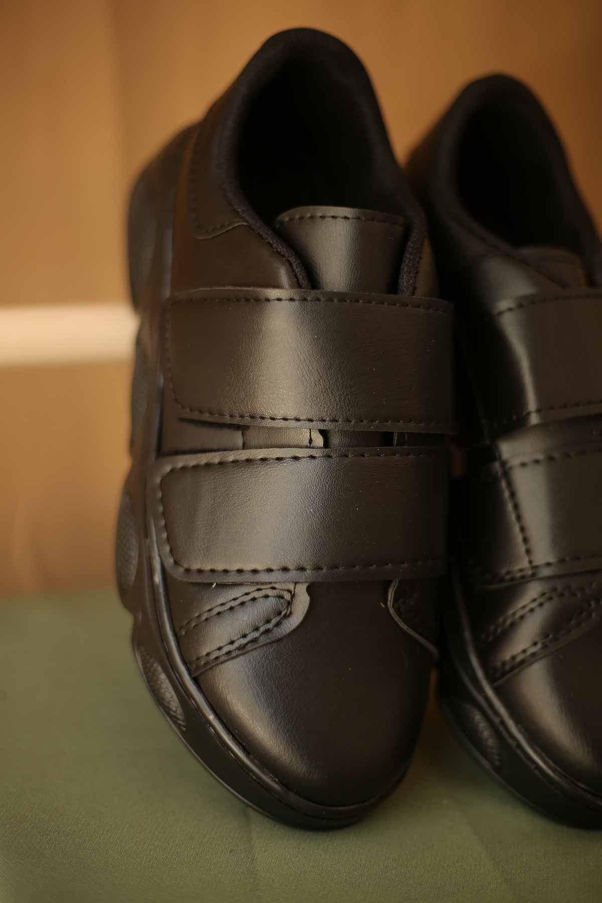 Yüksek Taban Spor Ayakkabı - Siyah
