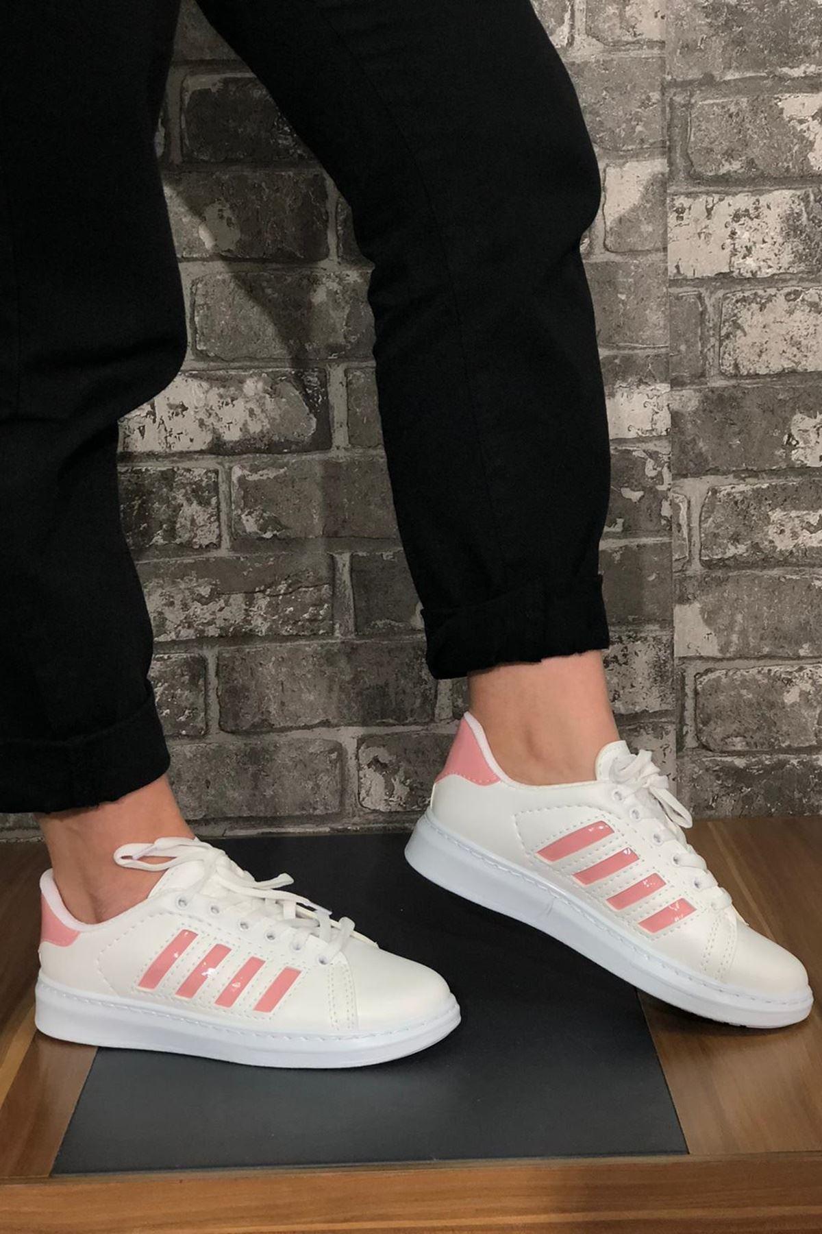 Süperstar Şeritli Spor Ayakkabı - Pembe