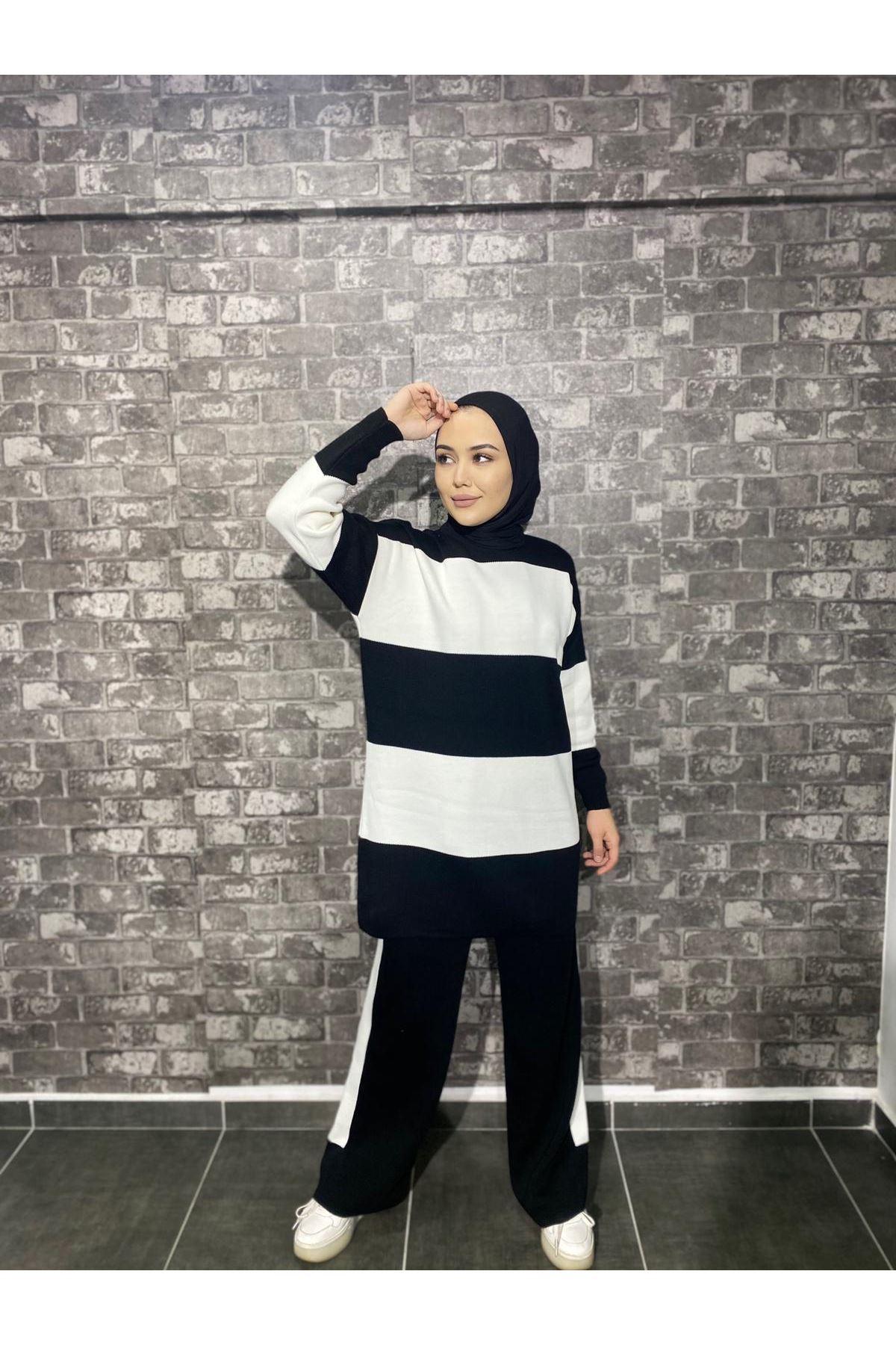 Zebra Triko Takım- Siyah-Beyaz