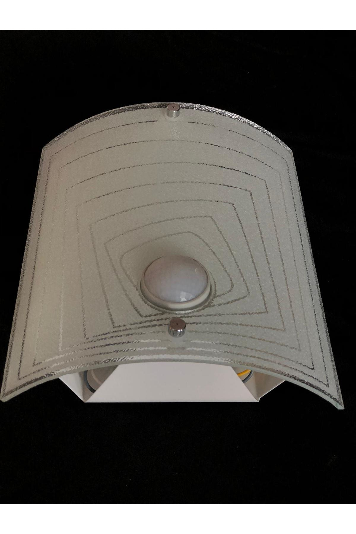 Sensörlü Armatür 1 Duylu Dikdörtgen Desen- Beyaz