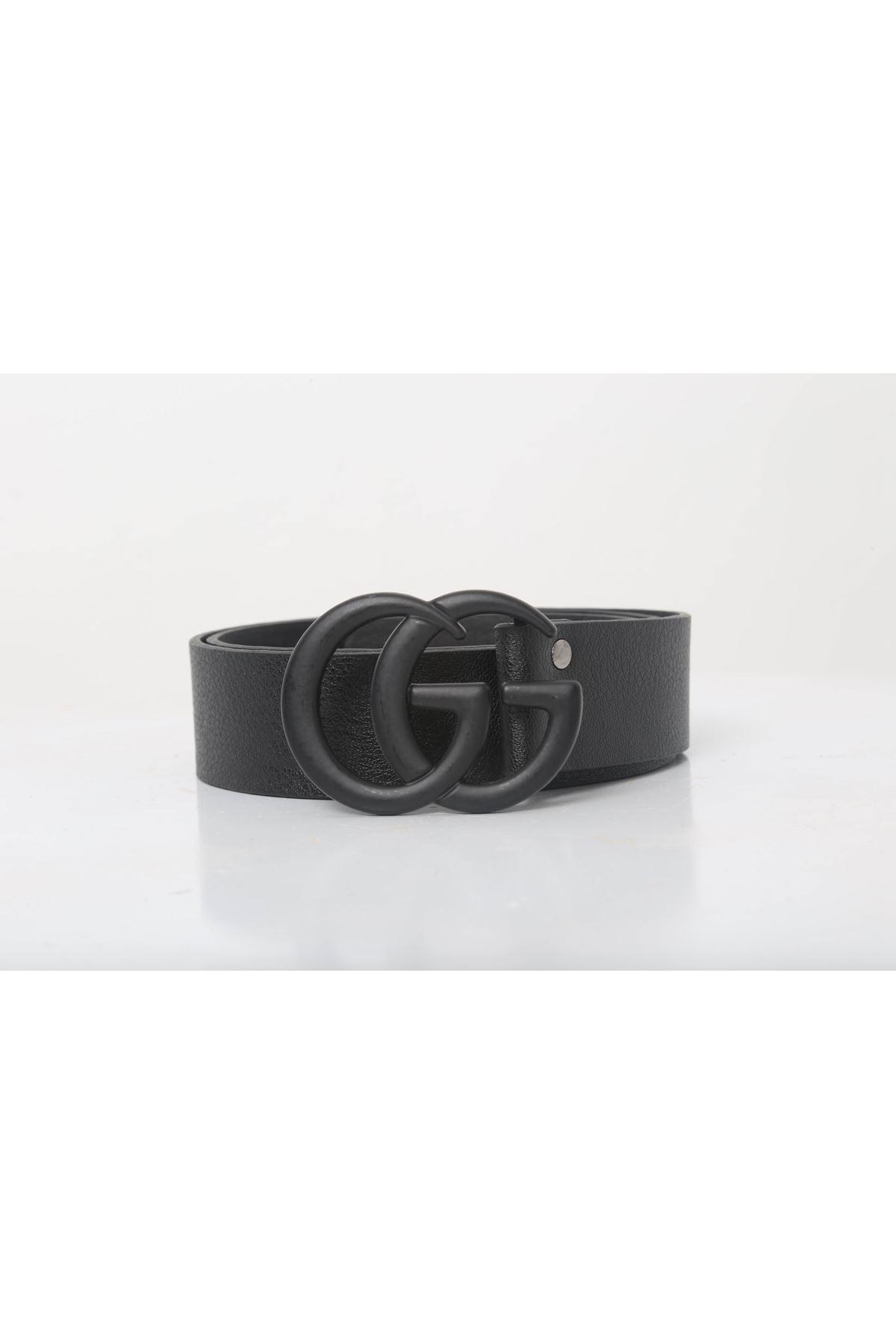 G & G Tokalı Mat Kemer- Mat Siyah