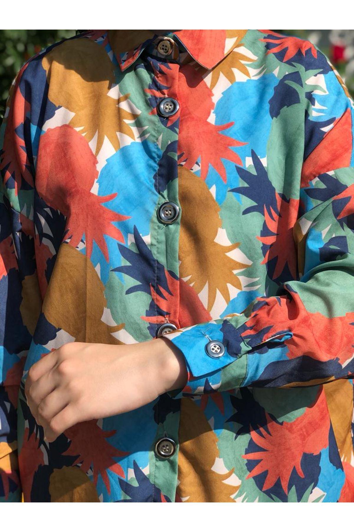 Copy of Fenomen Desen Tunik Gömlek - Taba