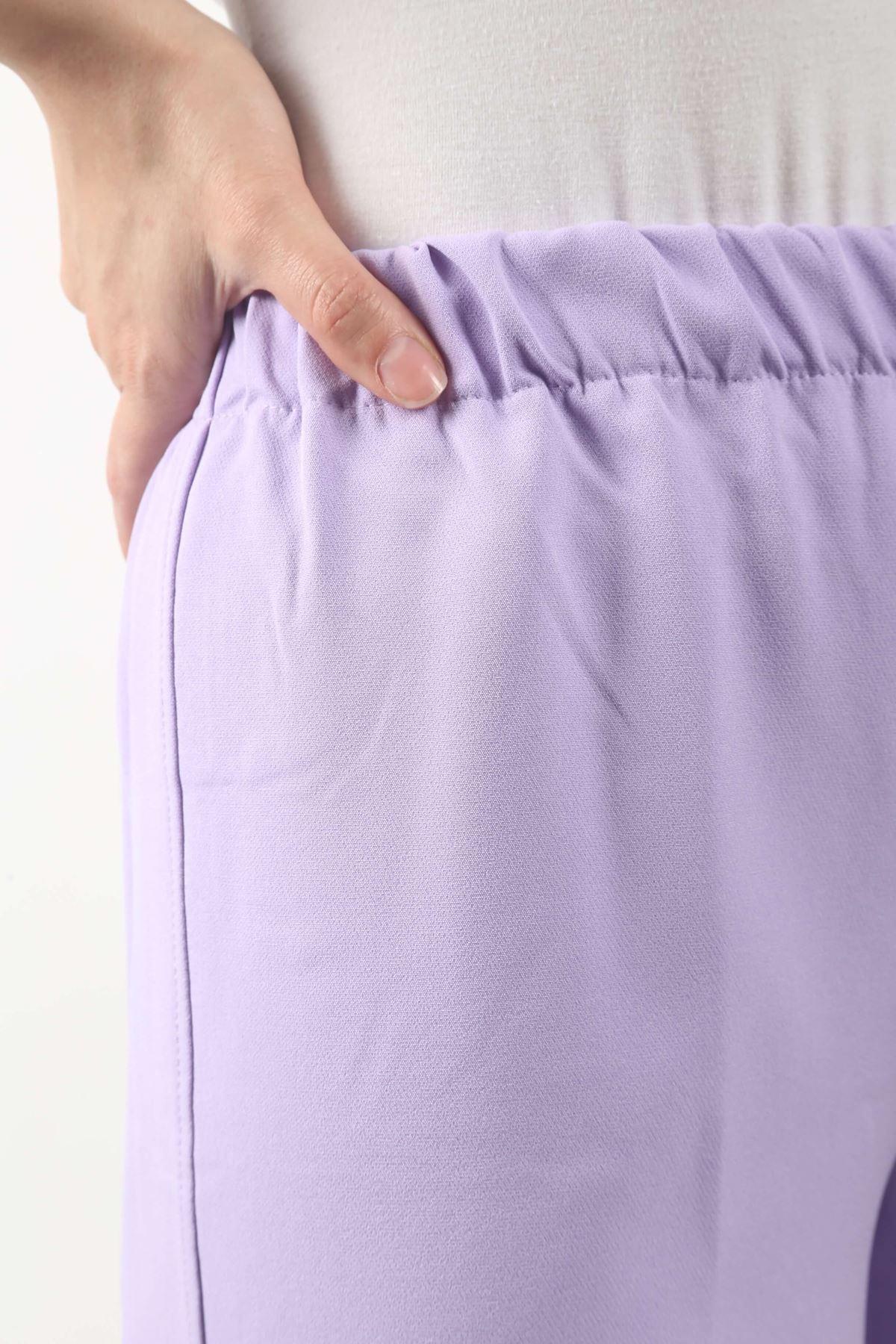 Copy of Duble Paça Pantolon - Lila