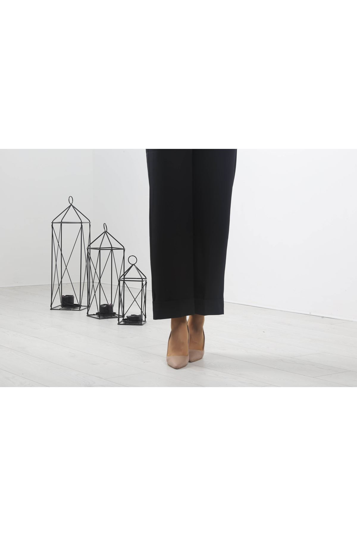 Copy of Duble Paça Pantolon - Siyah