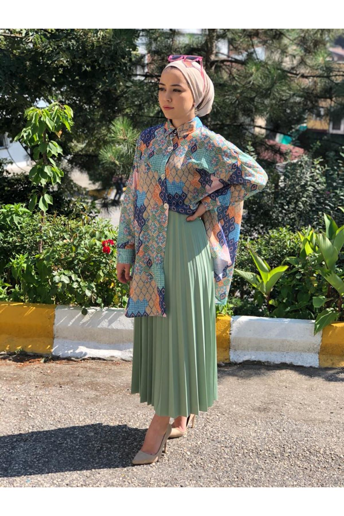 Copy of Damla Desen Tunik Gömlek - İndigo
