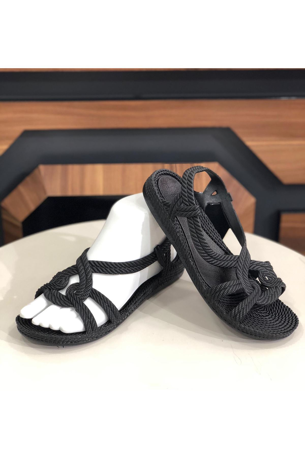 Sandalet Ayakkabı - Siyah