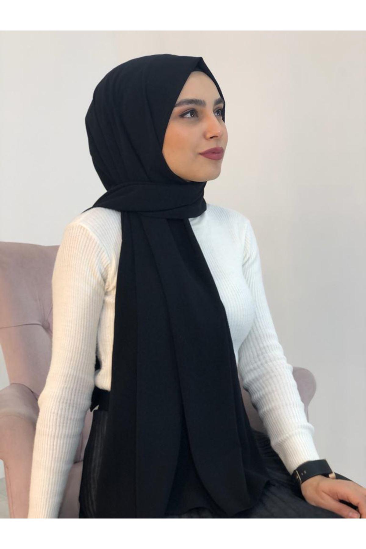 Poly Medine Şal - Siyah