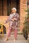 Rabia Desen Tunik Gömlek - Bordo